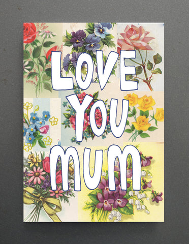 CARD- Tuesday Print, Floral Mum
