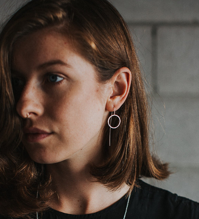 Full Moon Frame Earrings