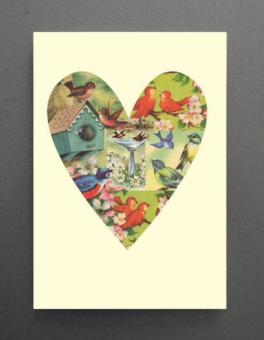 CARD- Tuesday Print, Love Birds