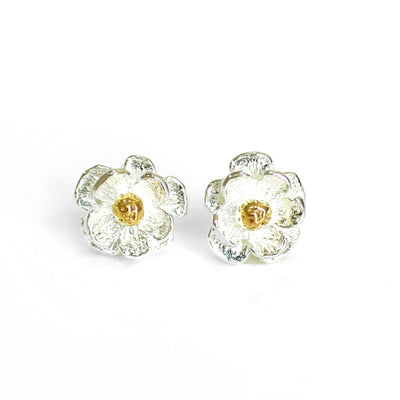 STUDS- Mount Cook Lily, stg, gold