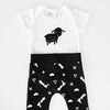 Sheep bodysuit and pants set, 0-6 months