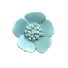 Turquoise Ribbonwood Flower Wall Ornament, small