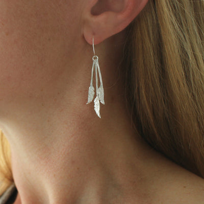 Triple Toetoe Earrings