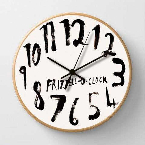 CLOCK, Frizzell, wood frame