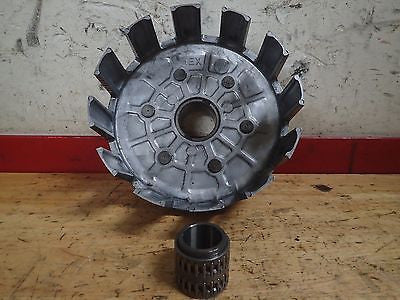 1994 1995 Yamaha YZ125 YZ 125 clutch basket and spacer bearing collar - Vintage MX