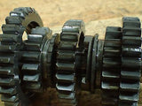 1977 1978 1979 Suzuki PE250 PE 250 transmission gears shaft spindle - Vintage MX