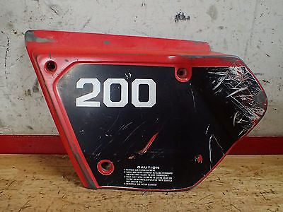 1980 1981 1982 1983 Honda XR200 XR 200 left frame side cover plate - Vintage MX
