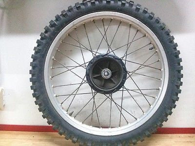 1977 Yamaha IT400 IT 400 front wheel and tire 1978 - Vintage MX