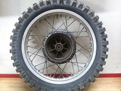 1977-1978 Yamaha IT400 IT 400 complete rear wheel rim hub sprocket tire - Vintage MX