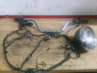 1971 Honda CB450 CB 450 handlebar wire harness headlight throttle OEM ignition - Vintage MX
