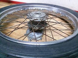 1973 Honda CB450 CB 450 front wheel and tire - Vintage MX