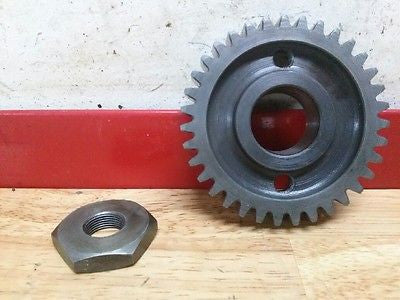 1972 Husqvarna WR450 WR 450 CR 250  primary drive gear and nut - Vintage MX