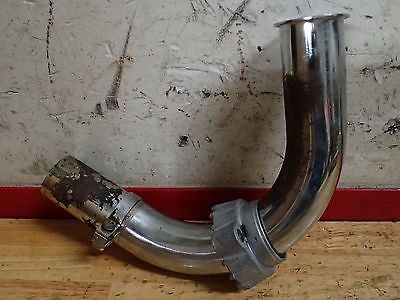 1973 Kawasaki H2 750 Mach IV exhaust header pipe flange clamp OEM - Vintage MX