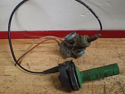 2002 Kawasaki KX65 KX 65 carb carburetor and throttle housing assembly - Vintage MX