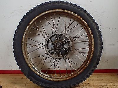 1968 Jawa 590 250cc Californian rear wheel rim hub Barum tire - Vintage MX