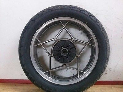 1980 1981 1982 Suzuki GS450 GS 450 rear wheel hub rim tire 95% tread - Vintage MX
