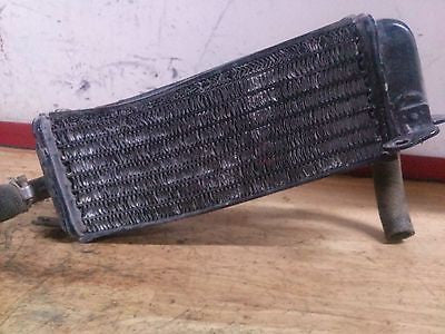 1986 Suzuki RM125 RM 125 G OEM right radiator and grille - Vintage MX