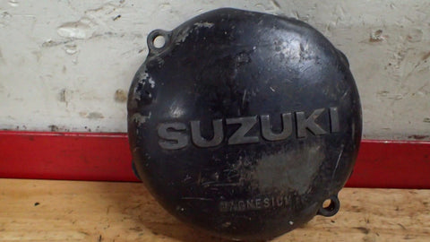 1981 1982 Suzuki RM125 RM 125 stator engine case cover cap - Vintage MX