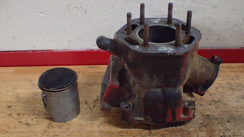 1981 Honda CR250  250 CR engine cylinder with piston 66mm from running bike - Vintage MX