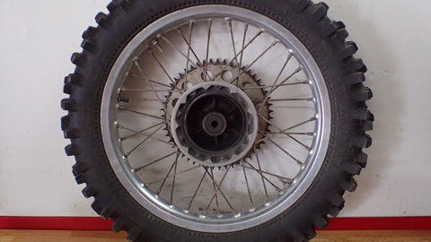 1981 1982 Suzuki RM125 RM 125 rear wheel rim hub spokes - Vintage MX