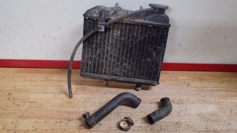 1981 1982 Suzuki RM125 RM 125 radiator with cap and hoses - Vintage MX