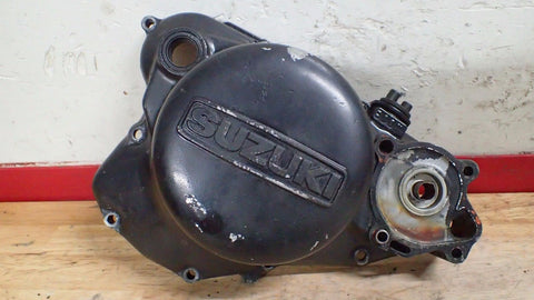 1984 1985 Suzuki RM125 RM 125 engine case clutch cover - Vintage MX