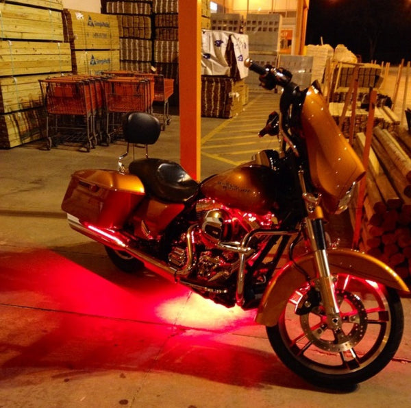 3pc Motorcycle Underglow Light Kit (Multiple colors available)