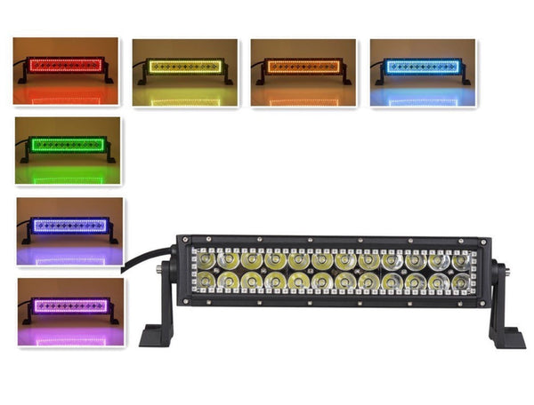 CREE STRAIGHT LIGHTBAR W/ MULTI COLOR HALO RING (12 INCH)