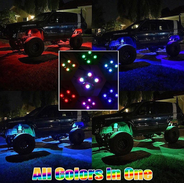 CusotmzLED (4pc) Multi Color Rock Lights