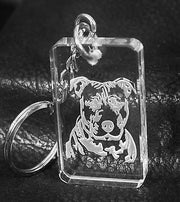 PIT BULL CRYSTAL KEY CHAIN HAND MADE - Samstagsandmore