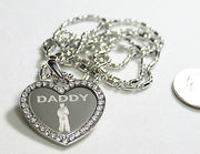 CZ BLING HEART MILITARY SON DAD MOM SISTER DAUGHTER BROTHER NECKLACE MARINER SAILOR MIDSHIPMEN NAVY - Samstagsandmore