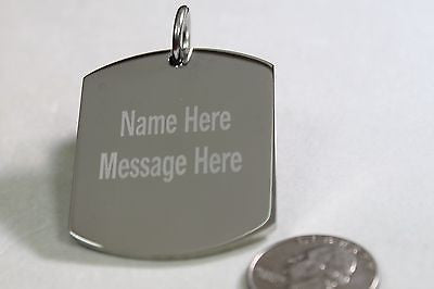 X LARGE THICK STAINLESS STEEL DOG TAG BLANK NO CHAIN OR BALE LOT of 4