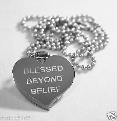 MOTIVATIONAL BLESSING STAINLESS STEEL PENDANT DOG TAG NECKLACE FREE ENGRAVING