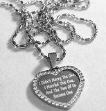 CZ STAINLESS STEEL HEART WEDDING LOVE NECKLACE PENDANT - Samstagsandmore