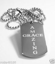 AMAZING GRACE  SOLID THICK STAINLESS STEEL SHINE CROSS PRAYER NECKLACE PENDANT - Samstagsandmore