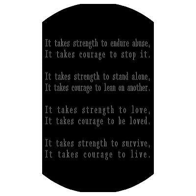 STRENGTH AND COURAGE INSPIRATIONAL SOLID THICK STAINLESS STEEL SHINE - Samstagsandmore