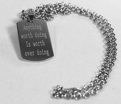 MOTIVATIONAL POSITIVE QUOTES SOLID THICK STAINLESS STEEL SHINE