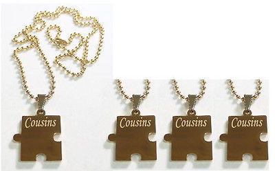 PUZZLE PIECE IPG X4 THICK GOLD PLATED SOLID STAINLESS STEEL BALL CHAIN NECKLACE