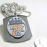 KENTUCKY WILDCATS  X LARGE  DOG TAG STAINLESS STEEL NECKLACE LOGO FREE ENGRAVE - Samstagsandmore