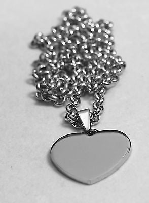 CZ BLING SOLID STAINLESS STEEL HEART DADDY DAD SISTER BROTHER  MOM FREE ENGRAVE - Samstagsandmore