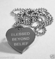 MOTIVATIONAL BLESSING STAINLESS STEEL PENDANT DOG TAG NECKLACE FREE ENGRAVING - Samstagsandmore