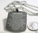 THE LORD'S PRAYER X LARGE THICK SOLID STAINLESS STEEL DOG TAG NECKLACE - Samstagsandmore