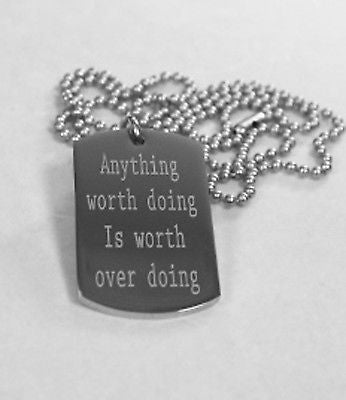 MOTIVATIONAL POSITIVE QUOTES SOLID THICK STAINLESS STEEL SHINE BALL CHAIN
