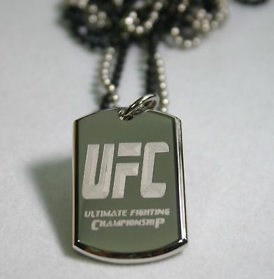 STAINLESS STEEL 3D MARTIAL ARTS ULTIMATE FIGHTING TAG NECKLACE PERSONALIZE - Samstagsandmore