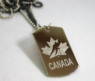 STAINLESS STEEL NHL CANADIEN HOCKEY /CUSTOM TAG NECKLACE PERSONALIZE