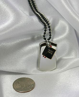 HOLY BIBLE CHARM, DOG TAG NECKLACE, 3D OR  CZ, FREE ENGRAVING - Samstagsandmore