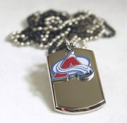 NHL COLORADO AVALANCHE NECKLACE DOGTAG PENDANT ENGRAVE - Samstagsandmore