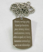 LIBRA ZODIAC SIGN TRAITS STAINLESS STEEL DOG TAG NECKLACE PENDANT - Samstagsandmore