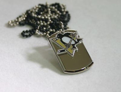 NHL PITTSBURGH PENGUINS HOCKEY NECKLACE DOGTAG PENDANT STAINLESS STEEL