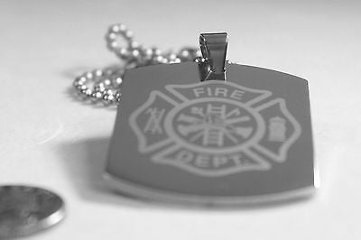 FIRE FIGHTER PRAYER/MALTESE CROSS 2SIDED ENGRAVED X LARGE THICK SOLID STAINLESS - Samstagsandmore